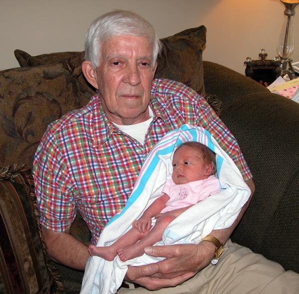 Papaw & granddaughter