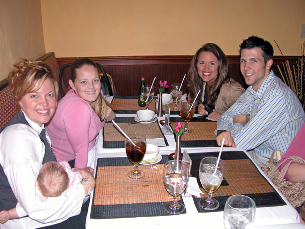 Alison, Emma Kate, Kate, Robert (hidden), Valerie, Brittain (hidden), Justin